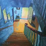 Descending Radiance by Kim VanDerHoek Oil ~ 16 x 16