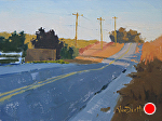 Farm Road Sunset by Kim VanDerHoek Oil ~ 6 x 8