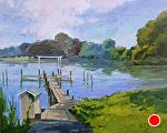 Quiet Landing by Kim VanDerHoek Oil ~ 16 x 20