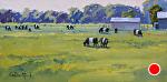 Dining Al Fresco by Kim VanDerHoek Oil ~ 8 x 16