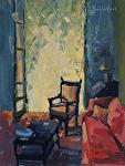 A Place to Sit by Kim VanDerHoek Oil ~ 12 x 9