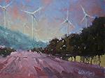 Contemporary Windmills by Kim VanDerHoek Oil ~ 9 x 12