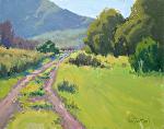 Canyon Road in Spring by Kim VanDerHoek Oil ~ 11 x 14