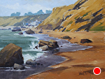 Rocky Shores of Crystal Cove by Kim VanDerHoek Oil ~ 9 x 12