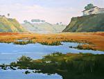Back Bay Bluffs by Kim VanDerHoek Oil ~ 18 x 24
