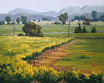 Beyond the Vineyard's Edge by Kim VanDerHoek Oil ~ 22 x 28