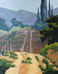 Road by the Fallow Field by Kim VanDerHoek Oil ~ 28 x 22