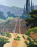 Road by the Fallow Field by Kim VanDerHoek Oil ~ 28 x 22