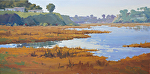 Calm Waters on the Bay by Kim VanDerHoek Oil ~ 12 x 24
