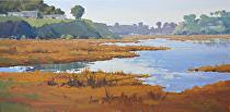 Calm Waters on the Bay by Kim VanDerHoek Oil ~ 12 x 24