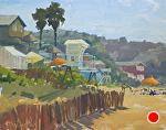 Quiet Day at the Cove by Kim VanDerHoek Oil ~ 11 x 14