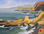 Moon Over Bodega Bay by Kim VanDerHoek Oil ~ 11 x 14