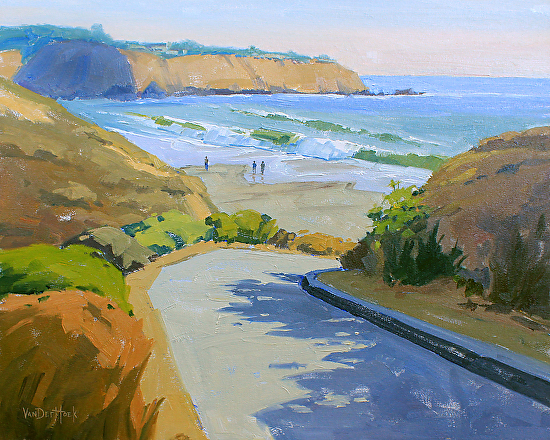 Path to El Moro Cove - Oil