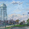 Holy Trinity Water Tower by Kirk Larsen Oil ~ 8 x 10