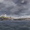 "Nubble Light by Kirk Larsen Oil ~ 16"" x 20"""