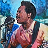 "Little Buster sings the blues by Kirk Larsen Acrylic ~ 20"" x 16"""