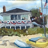 "Taylor's on the 4th by Kirk Larsen Oil ~ 5"" x 7"""