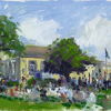 Memorial day ceremony 2012 by Kirk Larsen Oil ~ 9 x 12
