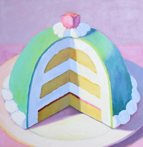 "Princess Cake by Pat Doherty Oil ~ 30"" x 30"""
