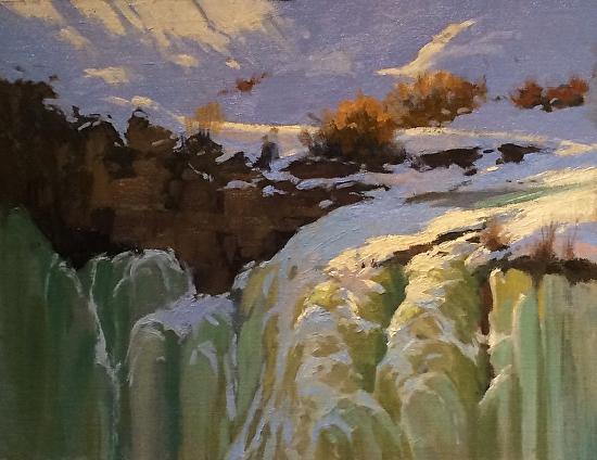 Frozen Falls - Oil