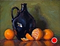 Batchelder Jug With Tangerines by Richard Christian Nelson Oil ~ 11 x 14