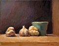 Garlic And Jar by Richard Christian Nelson Oil ~ 11 x 14