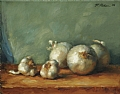 Garlic And Onions by Richard Christian Nelson Oil ~ 11 x 14