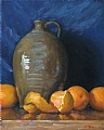 Catawba Jug With Oranges by Richard Christian Nelson Oil ~ 20 x 16