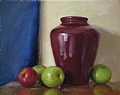 Bybee Vase With Apples by Richard Christian Nelson Oil ~ 16 x 20