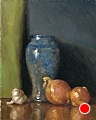 Hilton Vase With Onions And Garlic by Richard Christian Nelson Oil ~ 20 x 16