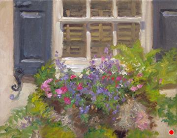 Charleston Window Box by Richard Christian Nelson Oil ~ 11 x 14