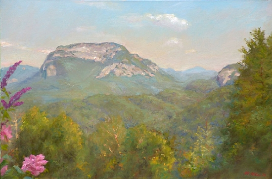 Whiteside Mountain by Richard Christian Nelson Oil ~ 24 x 36