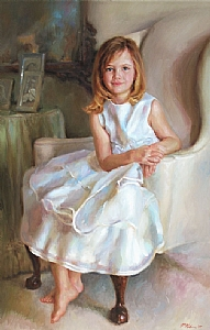 Alexandra by Richard Christian Nelson Oil ~ 47 x 30