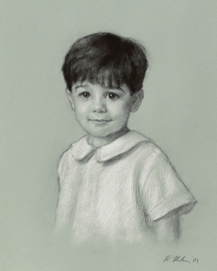 Charlie W. by Richard Christian Nelson Charcoal ~ 20 x 16