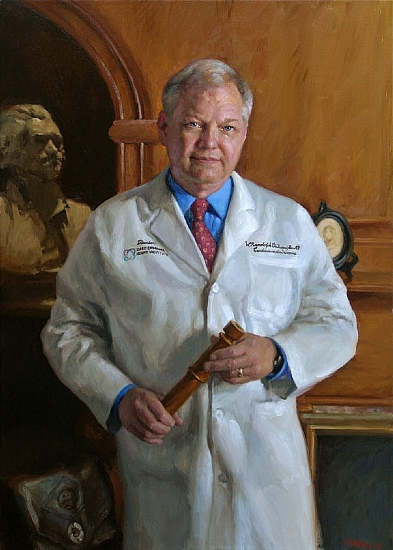 Dr. W.R. Chitwood by Richard Christian Nelson Oil ~ 42 x 30