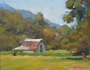 Pacolet Valley Barn by Richard Christian Nelson Oil ~ 11 x 14