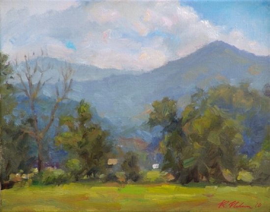 Old Howard Gap Road-Noon by Richard Christian Nelson Oil ~ 11 x 14