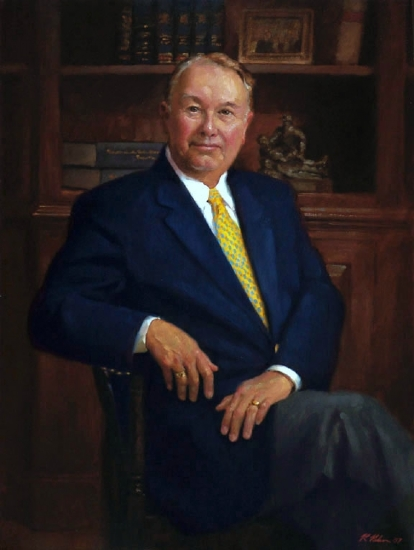 Hon. Judge Cliff Everett by Richard Christian Nelson Oil ~ 40 x 30