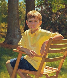 Justin by Richard Christian Nelson Oil ~ 30 x 26