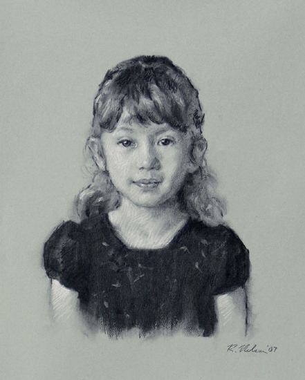 Kaila by Richard Christian Nelson Charcoal ~ 20 x 16