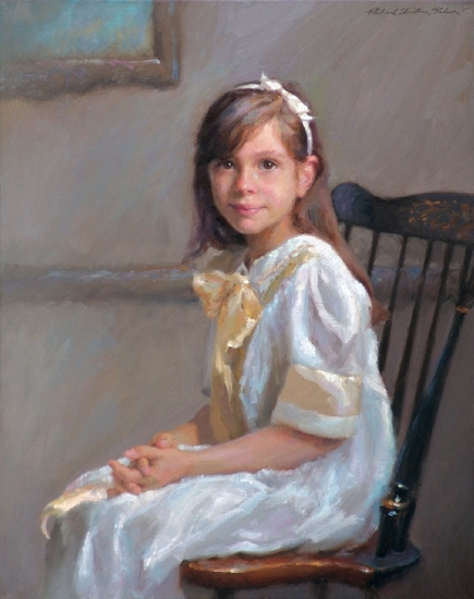Charlotte by Richard Christian Nelson Oil ~ 30 x 24