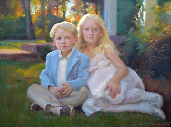 Isabel And Fort by Richard Christian Nelson Oil ~ 30 x 40