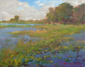 Marsh Morning by Richard Christian Nelson Oil ~ 11 x 14