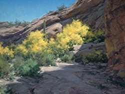 """Palo Verdes In Bloom"" by Matt Smith Oil ~ 18"" x 24"""