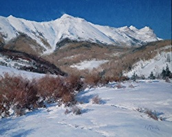 """Winter On Deep Creek Mesa"" by Matt Smith Oil ~ 16"" x 20"""