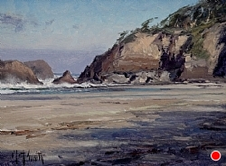 """Arcadia Beach"" (SOLD) by Matt Smith Oil ~ 6 x 8"