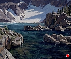 Iceberg Lake by Matt Smith Oil ~ 24 x 29