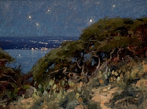 Catalina Nocturne  (SOLD) by Matt Smith Oil ~ 9 x 12