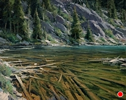 Shadow Lake Outlet 24 x 30 by Matt Smith Oil ~ 24 x 30