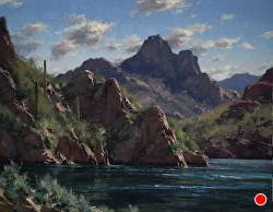 Saguaro Lake by Matt Smith Oil ~ 22 x 28